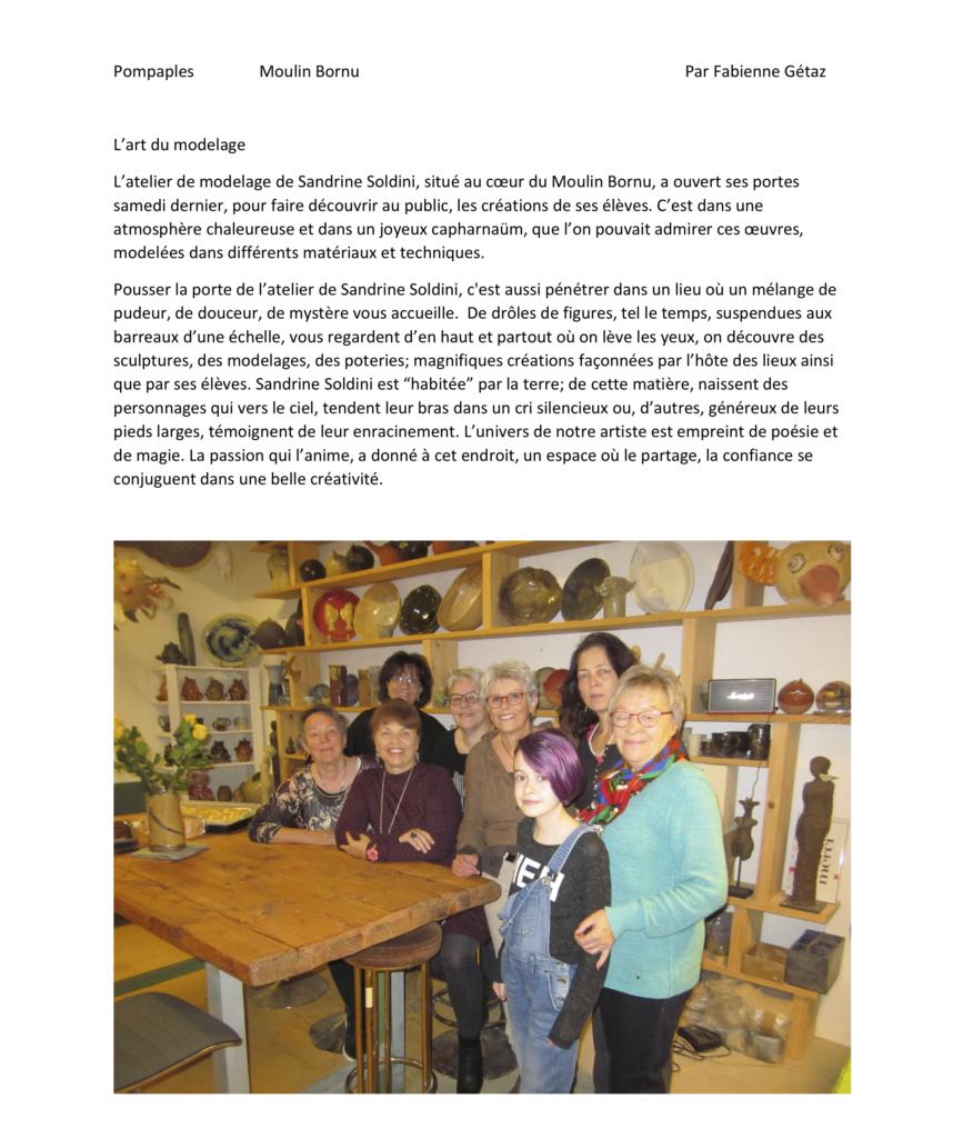 Pompaples Atelier de Sandrine Soldini